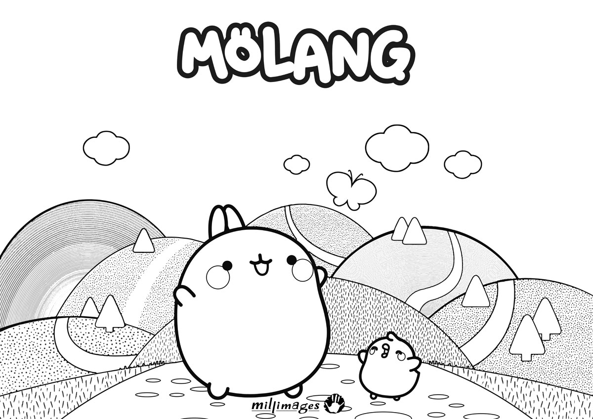 Molang Kolorowanka 3 Minimini