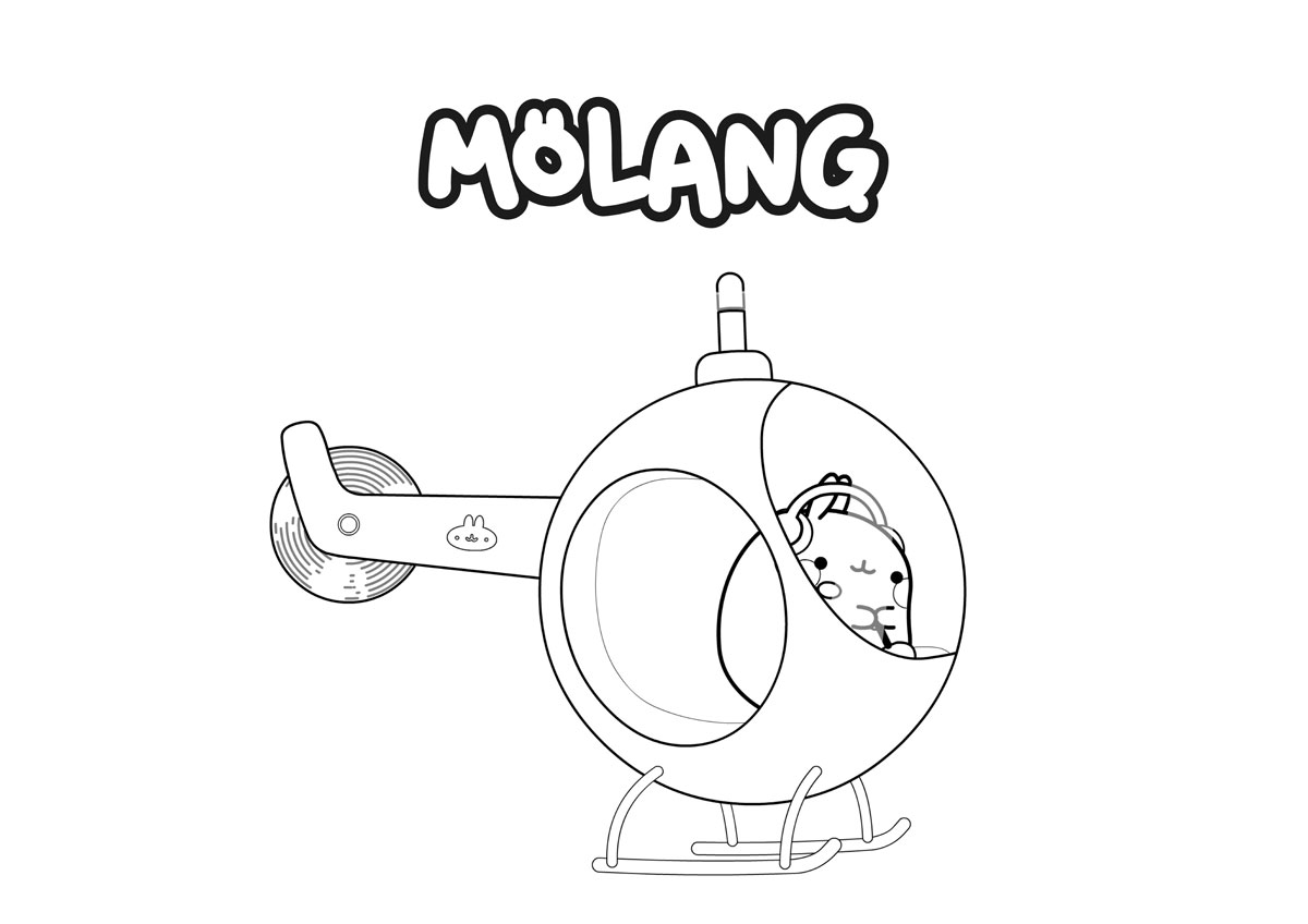 Molang Kolorowanka 6 Minimini